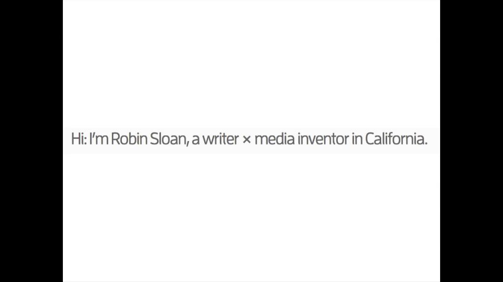 Robin Sloan Inventing Media 00 01 33