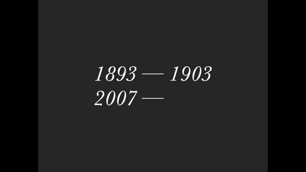 1893–1903; 2007–