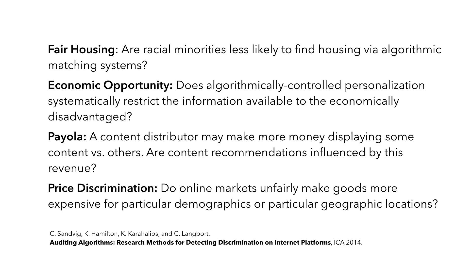 discrimination research